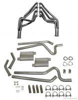 64-70 Ford Mustang (260-351) Abgasanlage - Stahl - 2,5 Zoll - Mit Fächerkrümmern