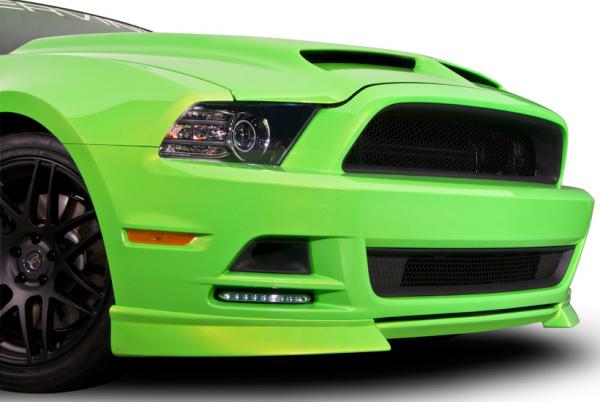 13-14 Ford Mustang Spoiler - Cervinis - C-Series - Schwarz Strukturiert
