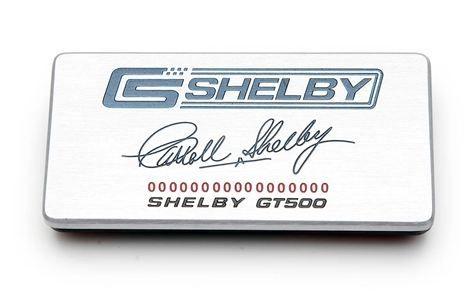 10-14 GT500 Shelby Aluminiumeinlage für Armaturenbrett - mit Unterschrift