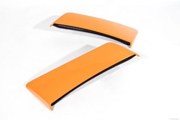 15-20 Ford Mustang Lufteinlass an Seitenwand hinten - ROUSH lackiert Orange Fury