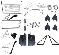67-68 Ford Mustang Fastback Türdichtungs Set