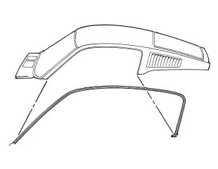 67-68 Ford Mustang Dichtung seitliche Dachkante - Türdichtung Set Karosserieseitig