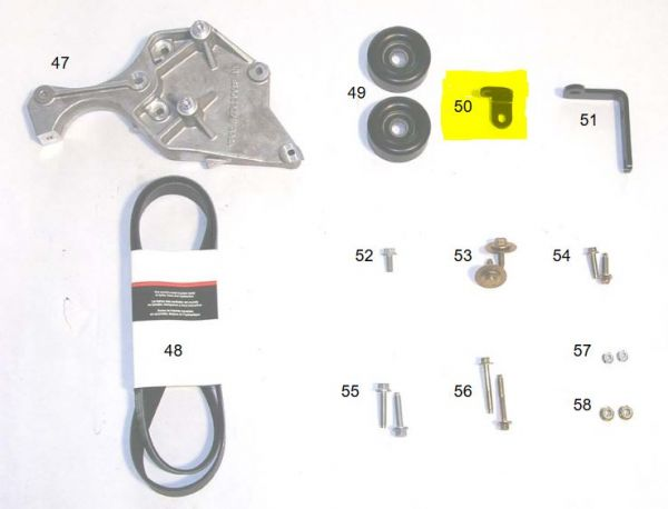 05-06 Ford Mustang (4.6) Halterung Lichtmaschine - Für Fahrzeuge mit Roush-Kompressor
