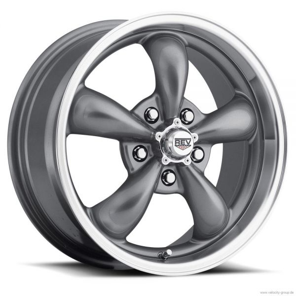 67-73 Ford/Mercury  Classic Wheel 15x8 Aluminium Grau