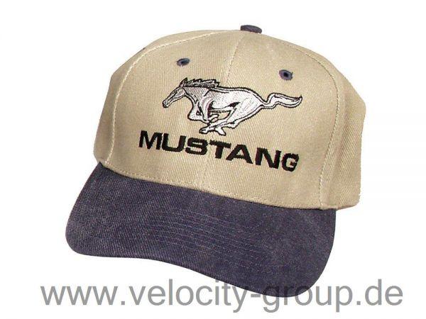 Mustang Cap - blau/braun
