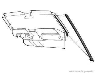 64-68 Cabrio Dichtungen für A-Säule - A-Qualität