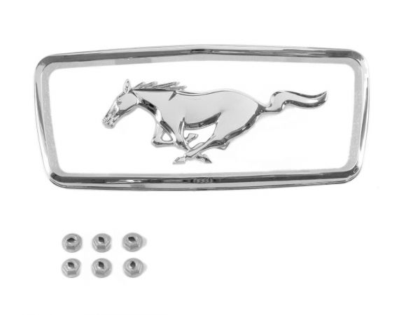 1968 Ford Mustang Emblem Kühlergrill - Running Pony mit Rahmen
