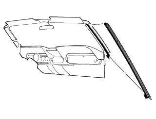 64-68 Ford Mustang Cabrio Dichtung für A-Säule
