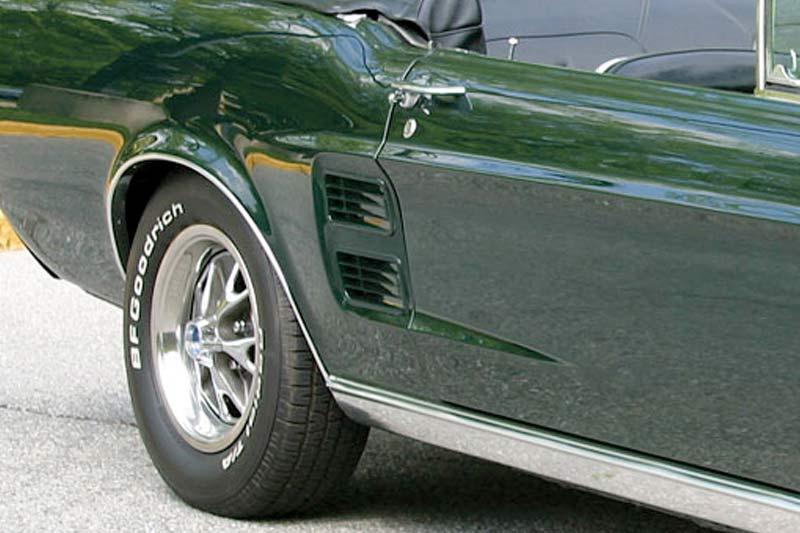 1967 Ford Mustang Zierleiste Lufteinlass Seite