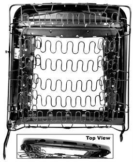 Rückenlehne Gestell Rahmen - rechts