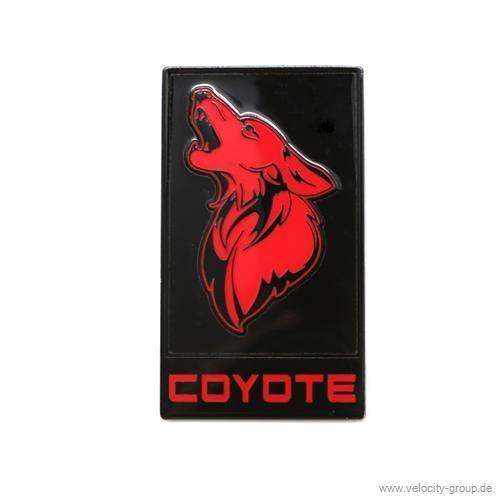 15 18 ford mustang emblem k hlergrill coyote schwarz. Black Bedroom Furniture Sets. Home Design Ideas