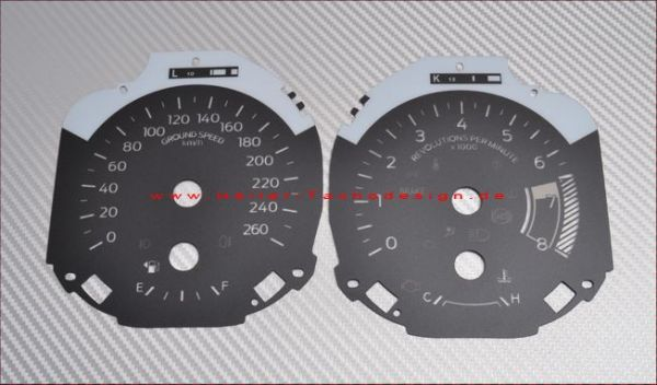 18-20 Ford Mustang Tachoziffernblatt - Carbon bis 260 km/h