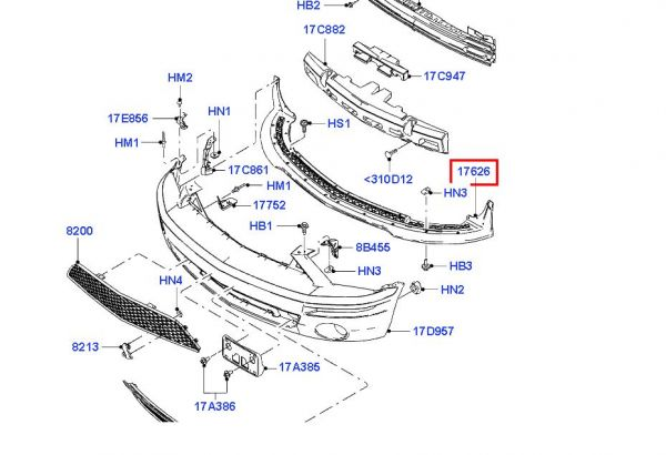 05-09 GT500 Ford OEM Spoilerlippe
