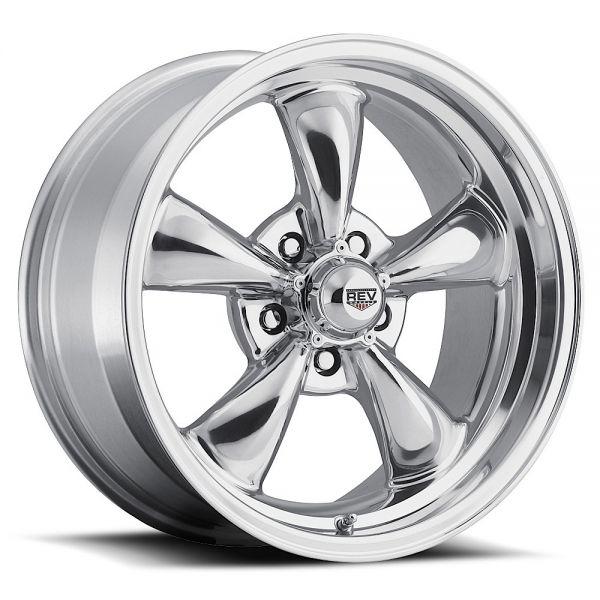 64-73 Ford Mustang  Classic Wheel 15x7 Aluminium poliert