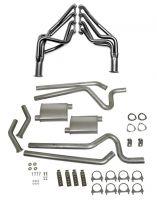64-70 Ford Mustang Coupe/Fastback Abgasanlage - Stahl - 2,5 Zoll - Mit Fächerkrümmern