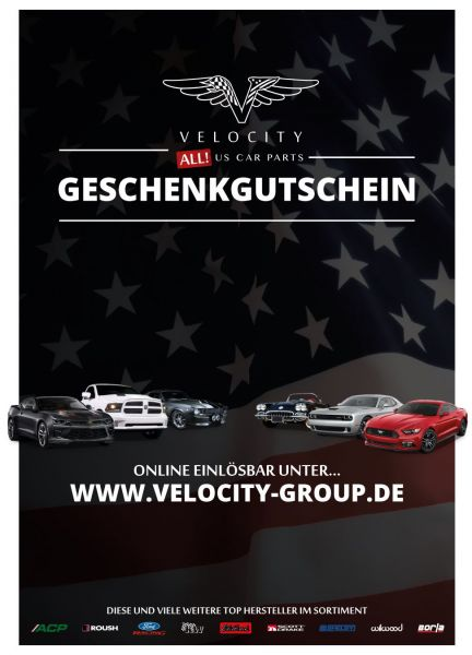 Geschenkgutschein - Velocity - 30 Euro