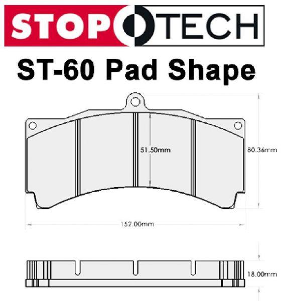 05-14 Ford Mustang Bremsbelagsatz Scheibenbremse - HAWK - Ceramic - Stop Tech ST60 - Vorne