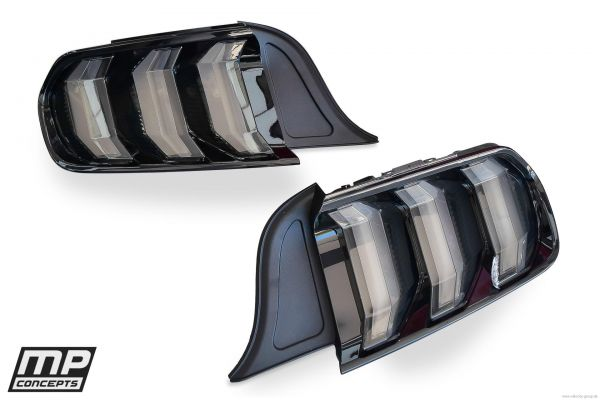 15-20 Ford Mustang Satz Rücklichter - Sequentiell - Rauchglas - 18er Design