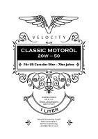 Motoröl - Velocity US-Car Vintage 20W50 1L