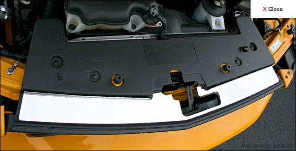05-09 GT/V6 Steeda vordere Kühlerabdeckung - gebürstet