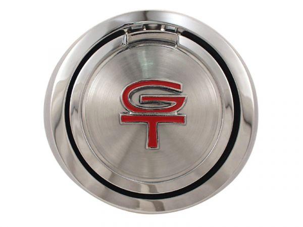 1968 Ford Mustang Tankdeckel - Pop Open - GT Logo Rot