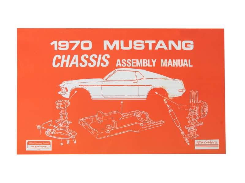 1970 Ford Mustang Technisches Handbuch - Fahrwerk AM-35