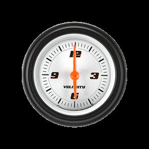 Uhr - Velocity White - 2 1/8 '''' - Edelstahl - Zeiger orange