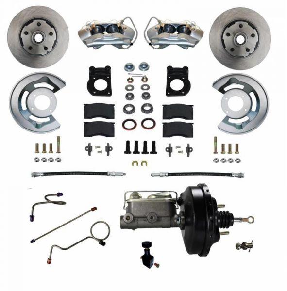 71-73 Ford Mustang Umrüstsatz Bremsanlage - Vorne - Glatt - Mit HBZ und mit BKV