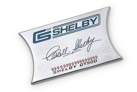 07-09 GT500 Shelby Aluminiumeinlage für Armaturenbrett - mit Unterschrift