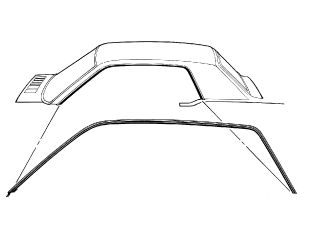 64-66 Ford Mustang Dichtung seitliche Dachkante