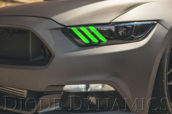 15 17 ford mustang led light kit multicolor with turn signal us rh velocity group de