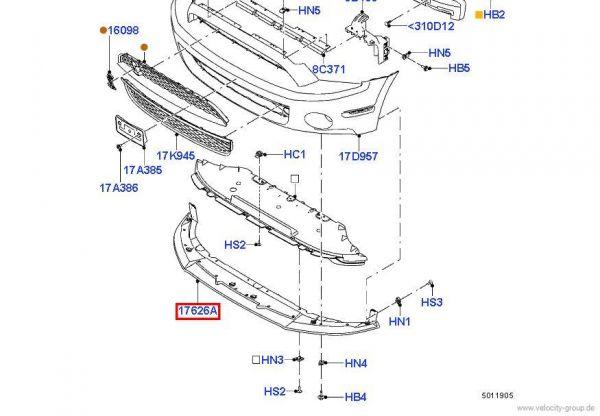 10-12 GT500 Ford OEM Spoilerlippe
