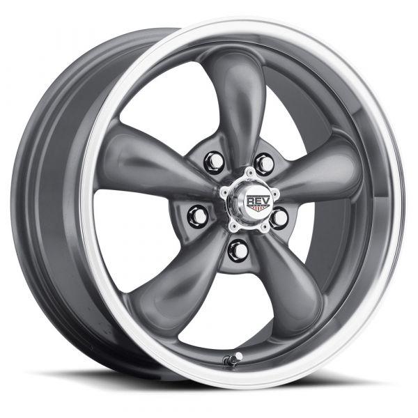 64-73 Ford Mustang  Classic Wheel 15x6 Aluminium Grau