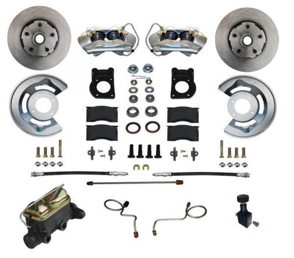67-69 Ford Mustang Umrüstsatz Bremsanlage - Vorne - Glatt - Mit HBZ und ohne BKV