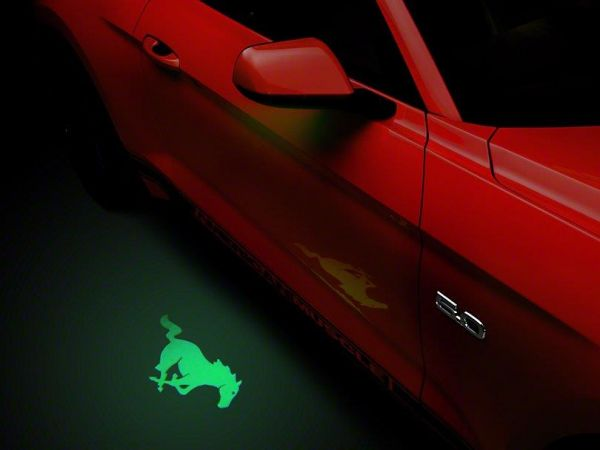 13-19 Ford Mustang Umfeldbeleuchtung - Linsenfolie grün