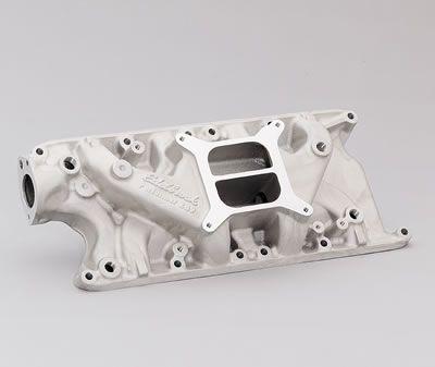 64-73 Ford Mustang (260-302) Ansaugkrümmer - Edelbrock Performer - Aluminium - Unbehandelt
