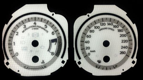 15-17 Ford Mustang Instrumentenscheibe - Weiß Carbon bis 260 km/h