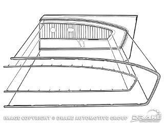 65-66 Ford Mustang Zierelemente Türverkleidung - Links und Rechts