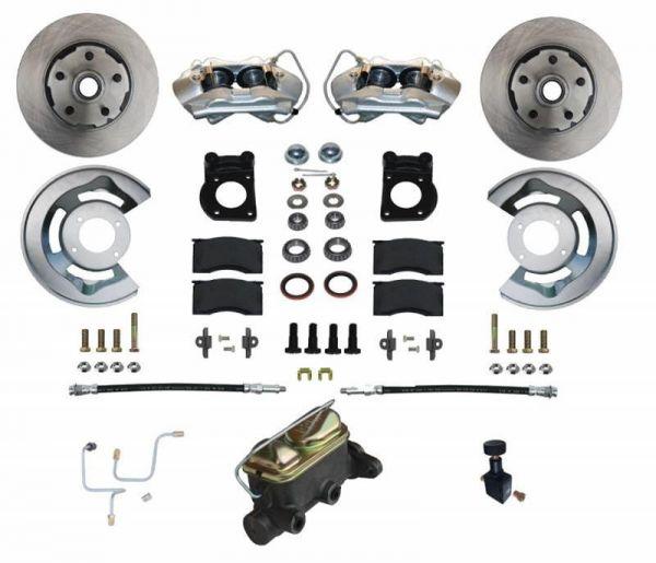 64-66 Ford Mustang Umrüstsatz Bremsanlage - Vorne - Glatt - Mit HBZ und ohne BKV