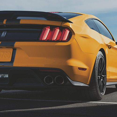 15-21 Ford Mustang Coupe  Heckspoiler - GT350 / GT500 / Mach1 - Mit Gurney Flap