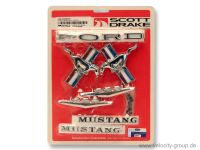 65-66 Ford Mustang Cabrio/Coupe Emblem Set