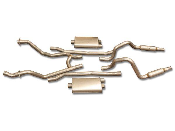 64-66 Ford Mustang (289) Abgasanlage - Stahl - 2 Zoll - K-Code - Mit Nachschalldämpfern