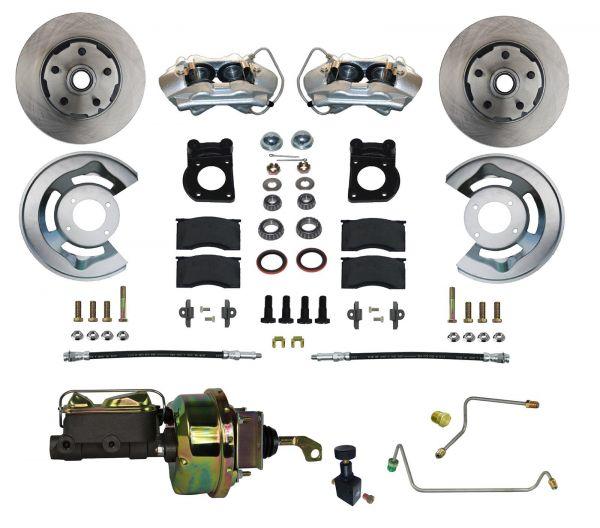 64-66 Ford Mustang Umrüstsatz Bremsanlage - Vorne - Glatt - Mit HBZ und mit BKV - Schaltgetriebe