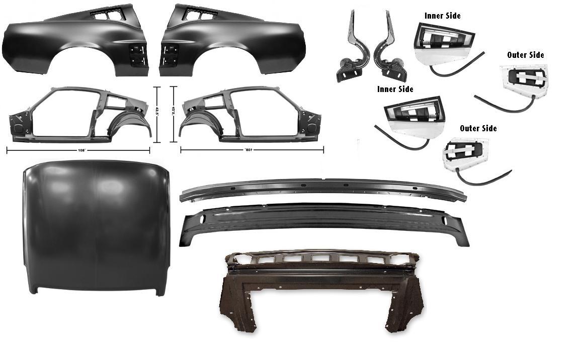 1967 ford mustang coupe reparatursatz rahmen umbausatz. Black Bedroom Furniture Sets. Home Design Ideas