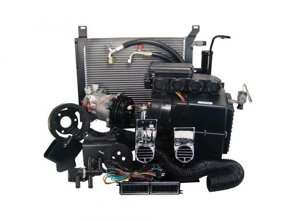 67-68 Ford Mustang (289) Klimaanlagennachrüstung - ohne OE Klima - OE Auslässe - mit Riemenscheibe