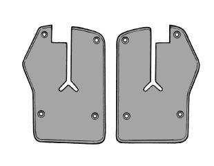 64-66 Ford Mustang Dichtung Fenster Tür - Stirnseite - Ohne Montagematerial