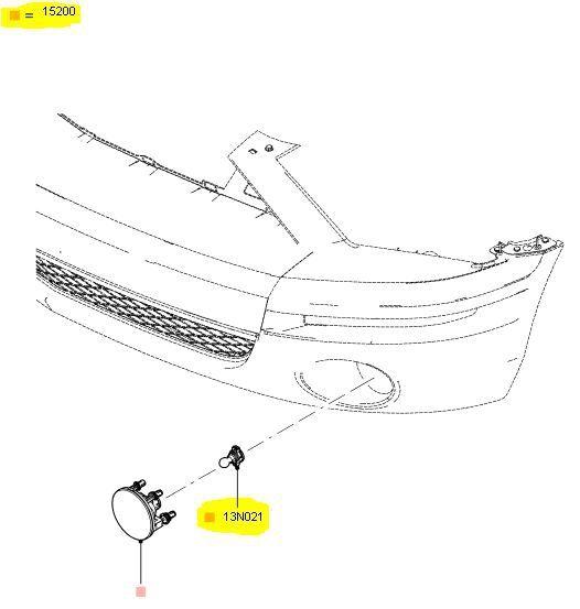07-12 Ford Mustang Leuchtmittel Nebelscheinwerfer