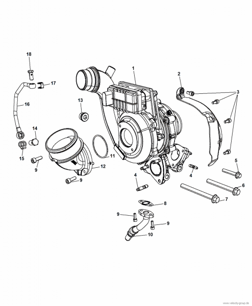 14-17 Jeep/Ram Adapter Ansaugtrakt