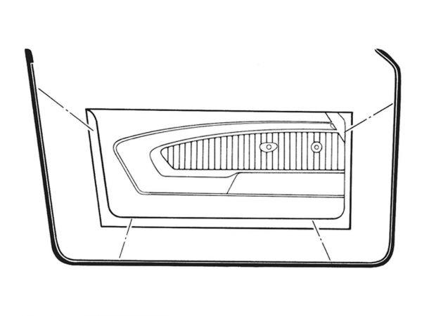 69-70 Ford Mustang Türdichtung