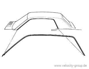 64-66 Coupe Dichtungen für Dachkante - B-Qualität